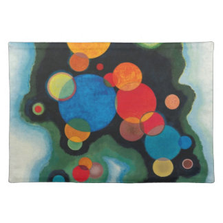 Kandinsky Deepened Impulse Abstract Oil on Canvas Placemat