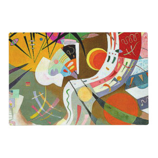 Kandinsky - Dominant Curve Laminated Placemat