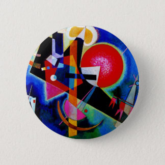 Kandinsky in Blue Abstract Painting 6 Cm Round Badge