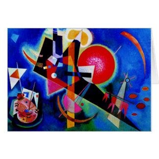 Kandinsky in Blue Abstract Painting Greeting Card