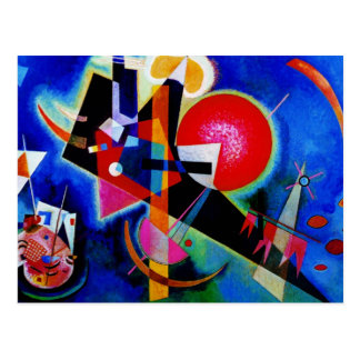 Kandinsky in Blue Abstract Painting Postcard