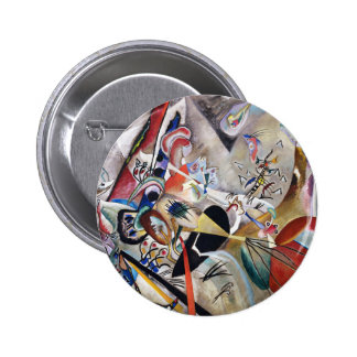Kandinsky In Gray Button
