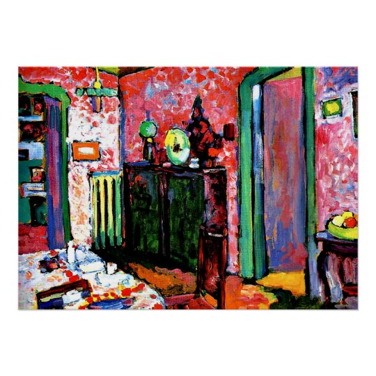 Kandinsky: Interior, My Dining Room, 1909 Poster
