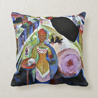 Kandinsky - Lady in Moscow Cushion