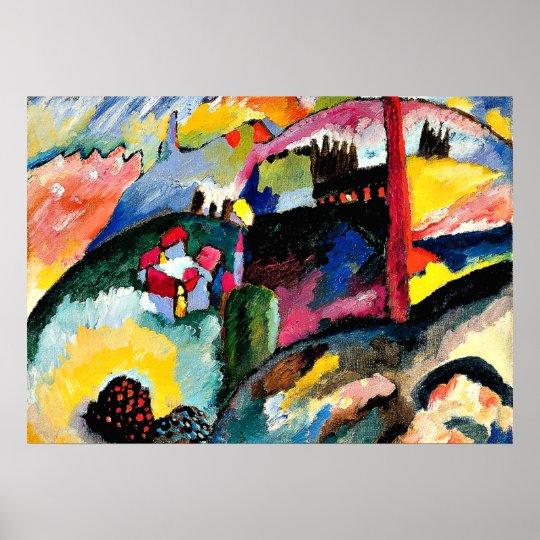 Kandinsky - Landscape with Factory Chimney Poster