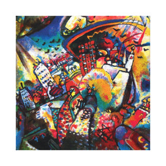 Kandinsky Moscow Cityscape Abstract Canvas Prints