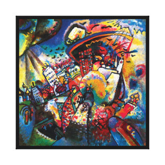 Kandinsky Moscow Cityscape Abstract Gallery Wrapped Canvas