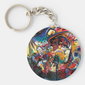 Kandinsky Moscow Cityscape Abstract Keychains