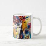 Kandinsky Moscow Cityscape Abstract Basic White Mug
