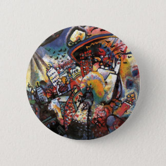 Kandinsky Moscow I Cityscape Abstract Painting 6 Cm Round Badge