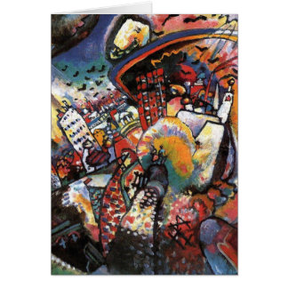 Kandinsky Moscow I Cityscape Abstract Painting Greeting Card