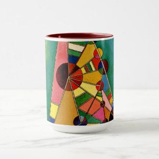 Kandinsky - Multicolored Triangle Mug