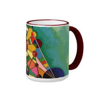 Kandinsky - Multicolored Triangle Ringer Mug