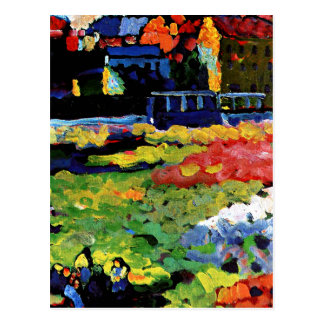 Kandinsky - Munich-Schwabing with the Church Postcard