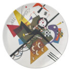 Kandinsky On White Two Abstract Painting Plate