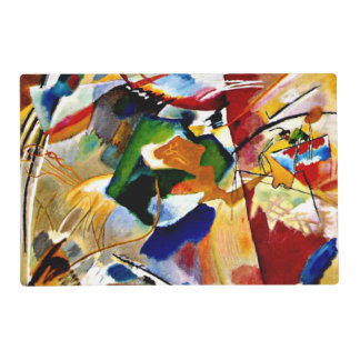 Kandinsky - Painting with Green Centre Laminated Placemat