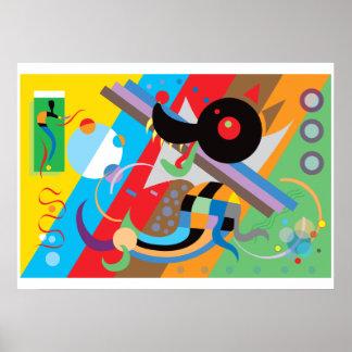 Kandinsky s Puppy Poster