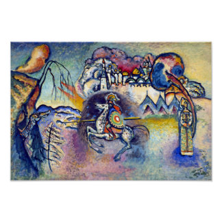 Kandinsky - Saint George and the Dragon Posters
