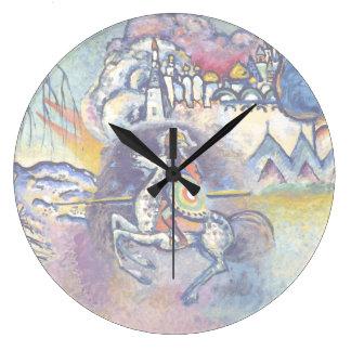 Kandinsky - Saint George and the Dragon Wall Clocks
