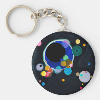 Kandinsky Several Circles Abstract Basic Round Button Key Ring