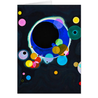 Kandinsky Several Circles Greeting Card