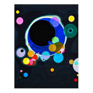 Kandinsky Several Circles Postcard