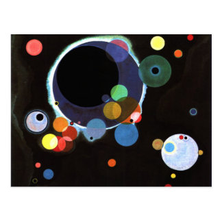 Kandinsky - Several Circles Postcard