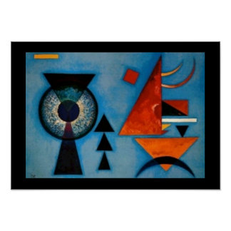 Kandinsky Soft Hard Abstract Poster