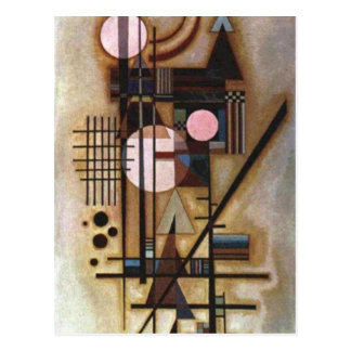 Kandinsky Softened Construction Postcard