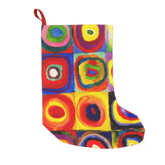 Kandinsky Squares Circles Farbstudie Quadrate Small Christmas Stocking
