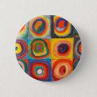 Kandinsky Squares Concentric Circles 6 Cm Round Badge