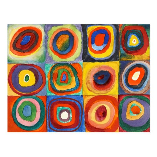 Kandinsky - Squares with Concentric Circles Postcard