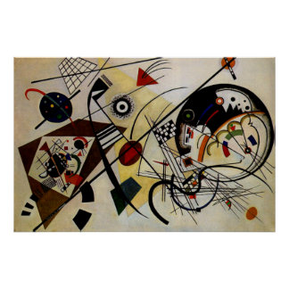 Kandinsky Transverse Unbroken Line Art Poster