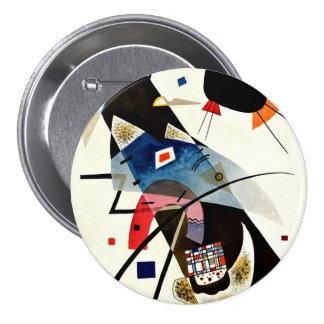 Kandinsky - Two Black Spots 7.5 Cm Round Badge