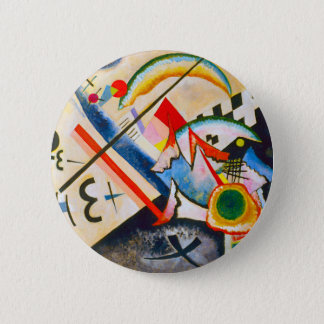 Kandinsky White Cross Button