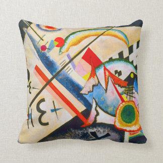 Kandinsky White Cross Throw Pillow Throw Cushions