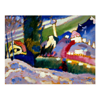 Kandinsky - Winter Landscape with Church Postcard