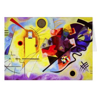 Kandinsky Yellow Red Blue Greeting Card