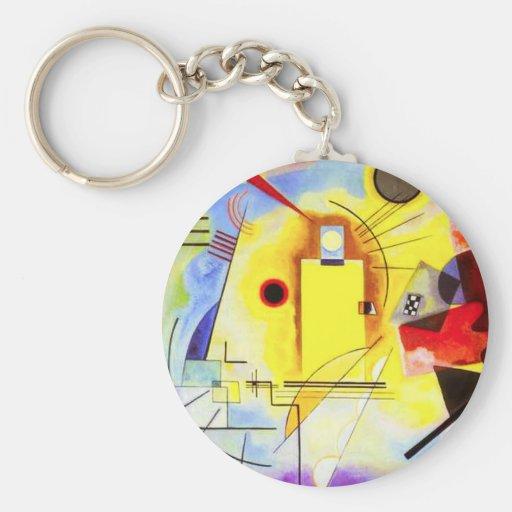 Kandinsky Yellow Red Blue Key Chain