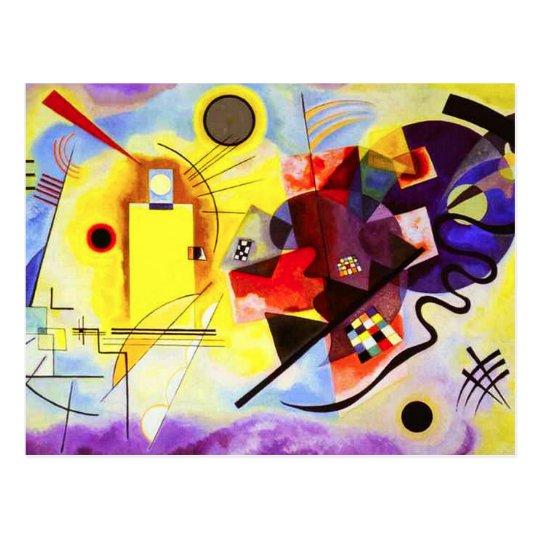 Kandinsky Yellow Red Blue Postcard