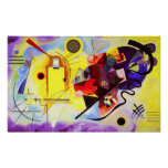 Kandinsky Yellow Red Blue Poster