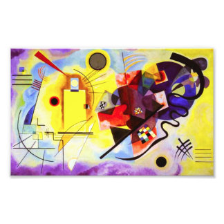 Kandinsky Yellow Red Blue Print