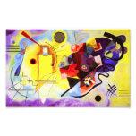Kandinsky Yellow Red Blue Print Art Photo
