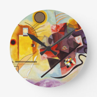 Kandinsky Yellow Red Blue Round Clock