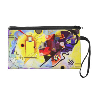 Kandinsky Yellow Red Blue Wristlet