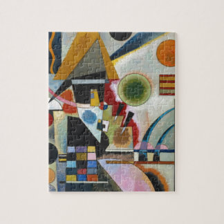 Kandinsky's Abstract Painting Swinging Jigsaw Puzzle