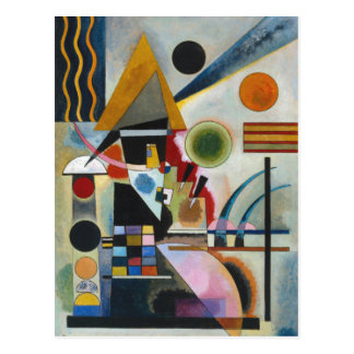 Kandinsky's Abstract Painting Swinging Postcard