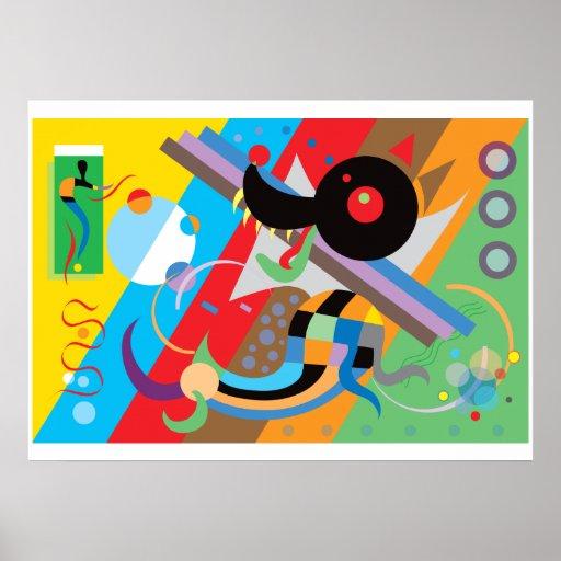 Kandinsky's Puppy Poster