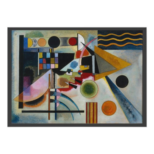 Kandinsky's Swinging Abstract Painting Poster