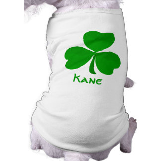 Kane Irish Shamrock Name Sleeveless Dog Shirt